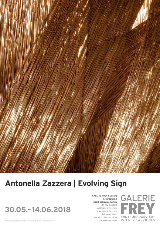 30.05.2018 – 14.07.2018 | Antonella Zazzera. Evolving Sign – GALERIE FREY I Salzburg
